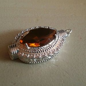 Citrine Pendant Sterling Silver new jewelry Gem